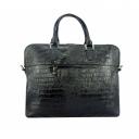 Кожаный портфель сумка черный крокодил 562/104 Украина