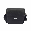 Маленькая мужская сумка кожаная черная Karya 0663/101 Турция