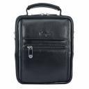 Маленькая мужская сумка кожаная черная Karya 0347/101 Турция