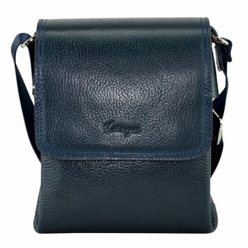 Маленькая сумка через плечо мужская синяя Karya 0576/401 Турция