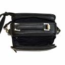 Мужская кожаная сумка через плечо черная AKA 307/101 Турция