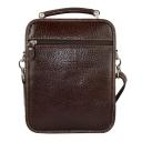 Чоловіча сумка з натуральної шкіри коричнева AKA 307/201-1 Турція