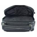 Мужская кожаная сумка через плечо черная AKA 387/101 Турция
