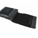 Мужская кожаная сумка через плечо черная крокодил Karya 0366/104 Турция