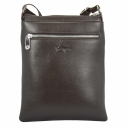 Мужская кожаная сумка через плечо коричневая Karya 0772/201 Турция
