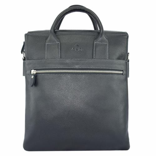Мужская кожаная сумка на плечо черная AKA 378/101 Турция