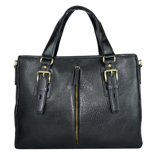 Мужская кожаная сумка для ноутбука и документов черная Tony Bellucci 5071/101 Италия