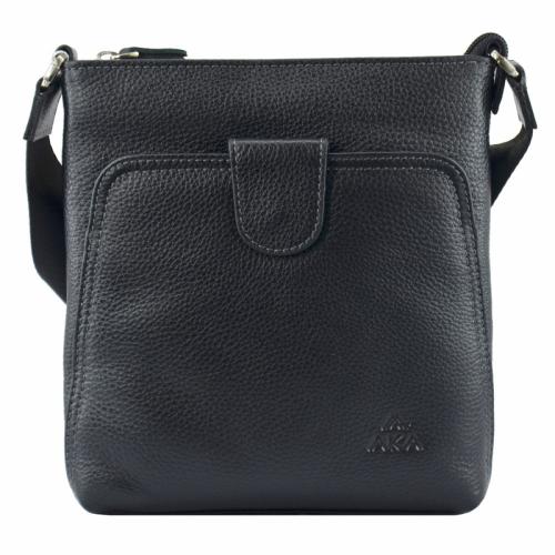 Мужская сумка черная из натуральной кожи AKA 316/101 Турция