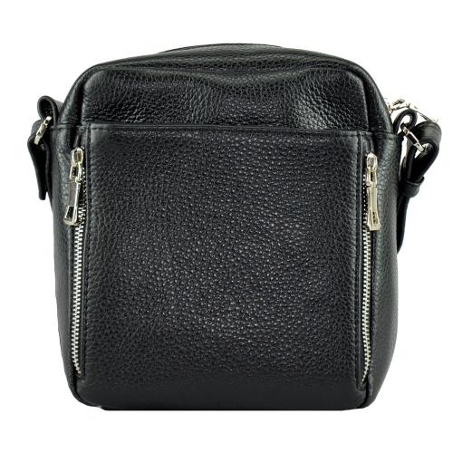 Мужская сумка через плечо черная 0257/101 Украина
