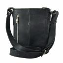 Мужская сумка через плечо черная 081/101 Украина
