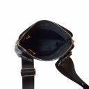 Мужская сумка через плечо кожа черная 0283/101 Украина