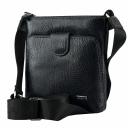 Мужская сумка через плечо кожаная черная AKA 316/101-1 Турция