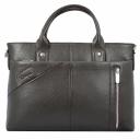 Мужская сумка для документов кожаная коричневая Karya 0761/201 Турция