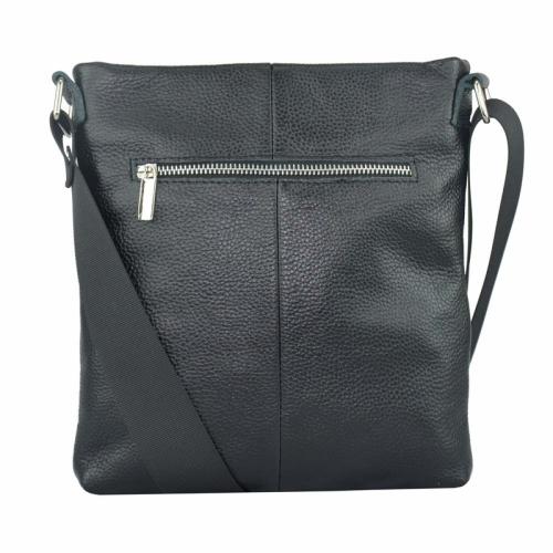 Мужская сумка из натуральной кожи черная 302/101 Украина
