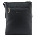 Мужская сумка из натуральной кожи черная Karya 0365/101 Турция