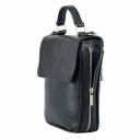 Мужская сумка кожаная черная 0170/101 Украина