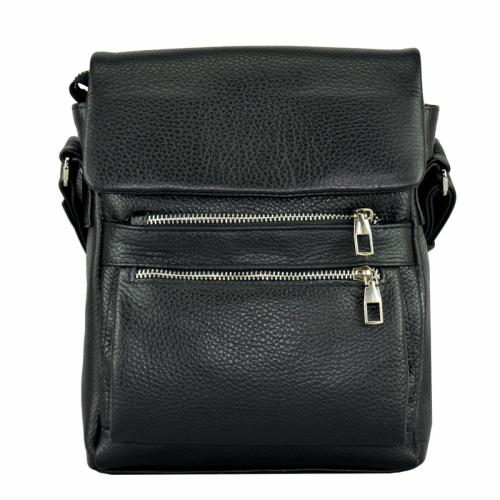 Мужская сумка кожаная черная 0212/101 Украина