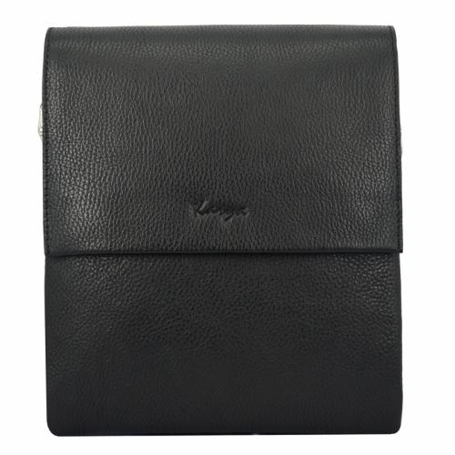 Мужская сумка кожаная черная Karya 0542/101 Турция