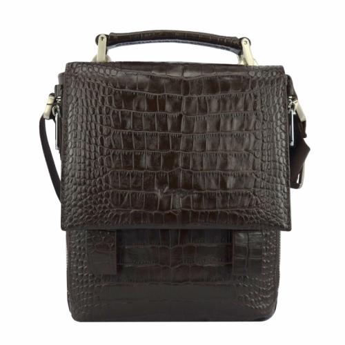 Мужская сумка кожаная коричневая Karya 0628/204 Турция