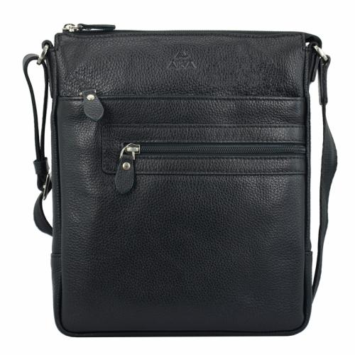Мужская сумка на плечо кожаная черная AKA 343/101 Турция