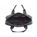 Мужская сумка портфель из натуральной кожи черная Karya 0655/101 Турция