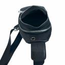 Мужская сумка слинг из кожи черная 2016/101 Украина