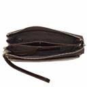 Мужской клатч кожаный коричневый Karya 0639/204 Турция