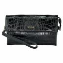 Мужской клатч кожаный черный крокодил Karya 0696/104 Турция