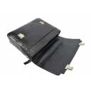 Мужской кожаный портфель черный крокодил Karya 0146/104 Турция