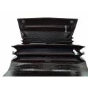 Мужской портфель кожаный коричневый шоколад крокодил Karya 0144/204 Турция