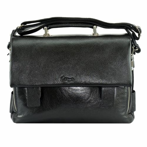 Мужской портфель кожаный черный полуглянец Karya 0368/101g Турция