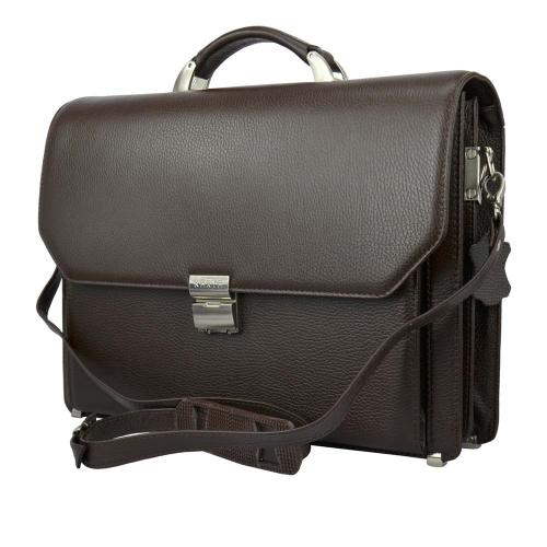 Портфель кожаный мужской классический коричневый Karya 0229/201 Турция