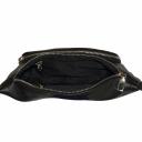 Поясная сумка из натуральной кожи черная 2187/101 Украина