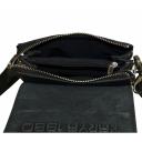 Шкіряна чоловіча сумка через плече чорна Karya 0565/101 Туреччина