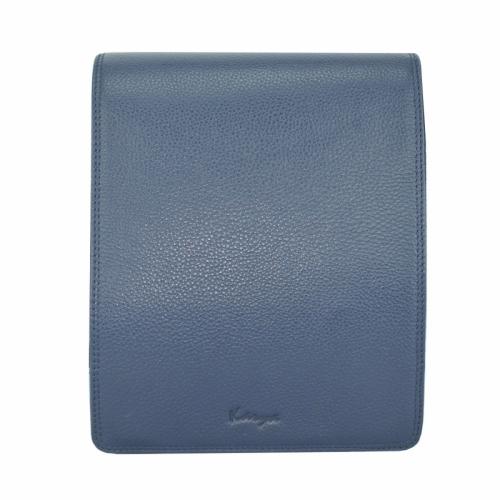 Сумка чоловіча шкіряна синя Karya 0366/401 Турція