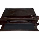 Сумка для ноутбука 15.6 кожаная шоколад крокодил Karya 0816/204 Турция