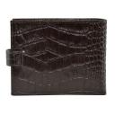 Бумажник мужской кожаный коричневый с тиснением крокодил 0411/204