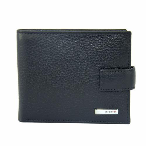 Чоловічий шкіряний гаманець чорний KARYA 0457/101 Туреччина