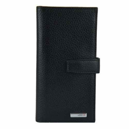 Кошелек бумажник черный Karya 1123/101 Турция
