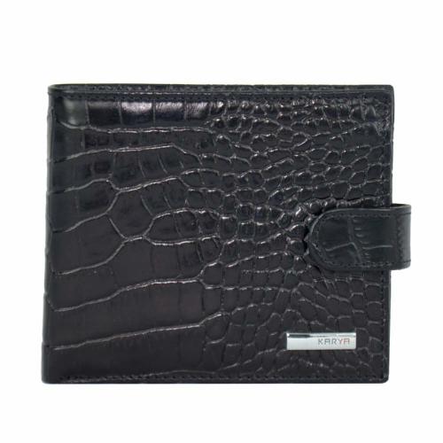Кошелек мужской кожаный черный KARYA 0413/104 Турция
