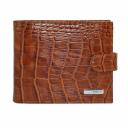 Кожаное мужское портмоне рыжий KARYA 0413/214 Турция