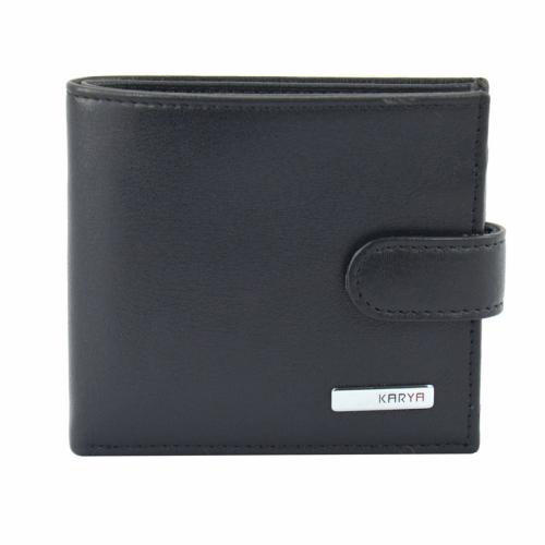 Кожаное портмоне мужское гладкое KARYA 0437/102 Турция
