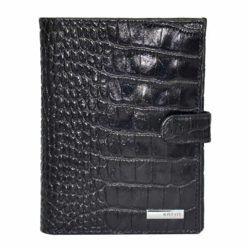 Мужское портмоне кожаное черное KARYA 0914/104 Турция