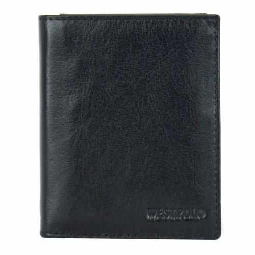 Мужское портмоне черное West Polo 507/101 Турция
