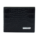 Мужской кошелек зажим для денег кожаный черный крокодил KARYA 0903/104 Турция