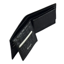 Мужской бумажник черный 0420/104