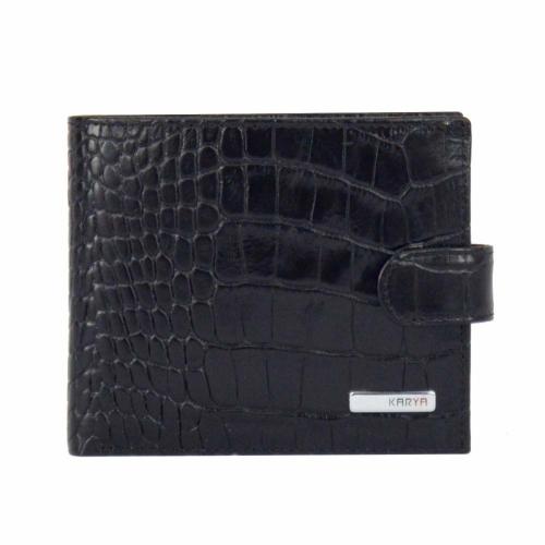 Портмоне кожаное мужское черное KARYA 0431/104 Турция