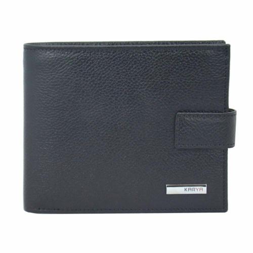 Шкіряний чоловічий гаманець чорний KARYA 0440/101 Туреччина