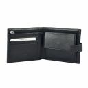 Шкіряний гаманець чоловічий чорний KARYA 0450/101 Туреччина