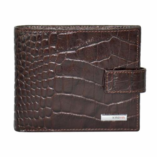 Стильный кошелек мужской коричневый KARYA 0457/204 Турция